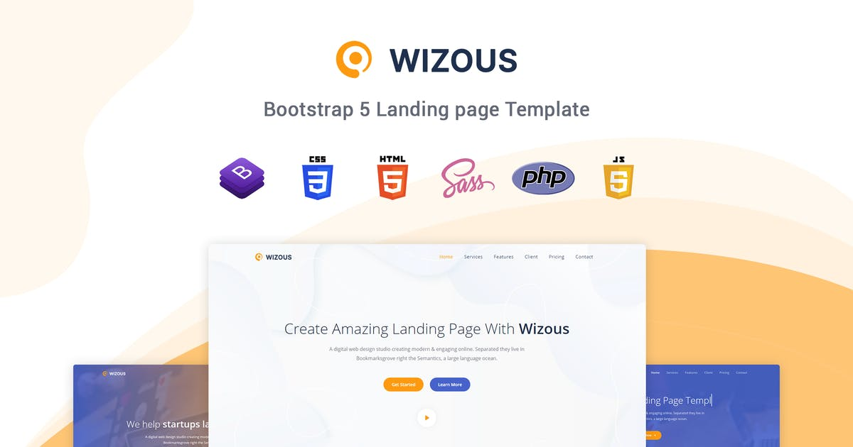 Download Wizous - Bootstrap 5 Landing page Template by themesdesign
