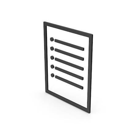 Símbolo Nota de papel negro