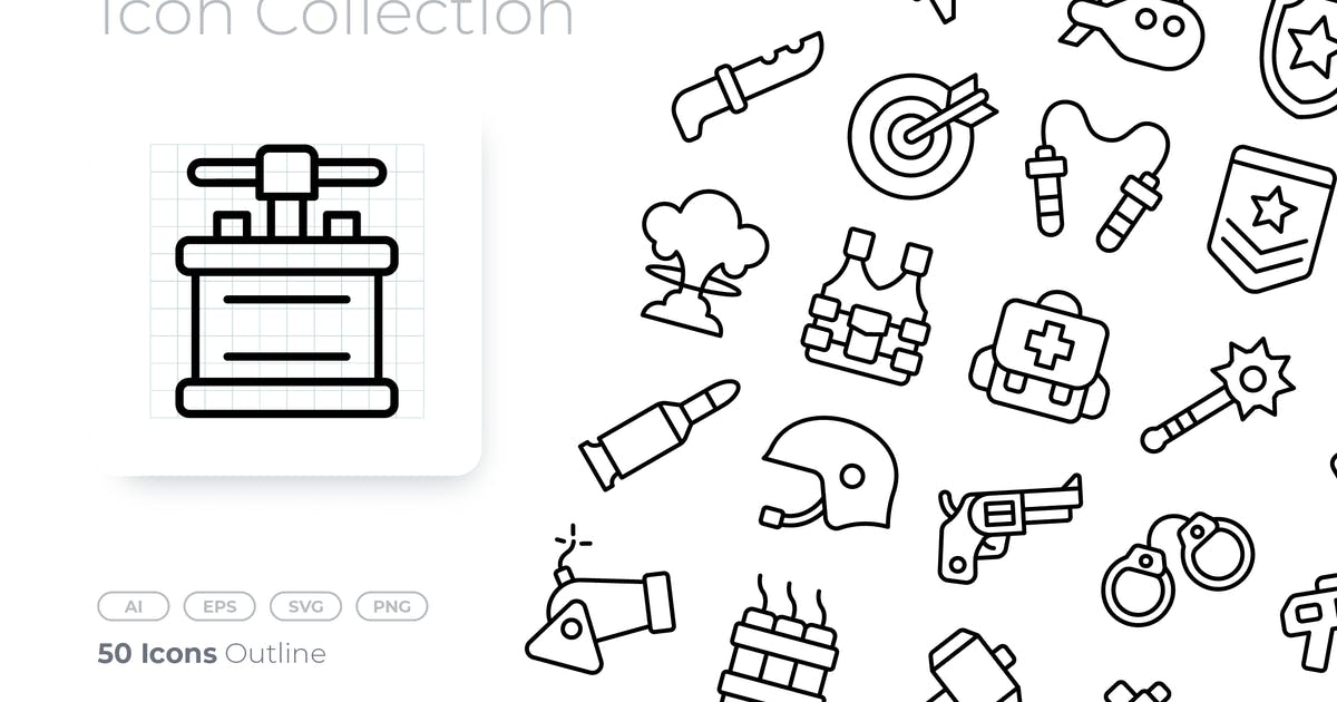 Download Weapons Outline Icon by GoodWare_Std