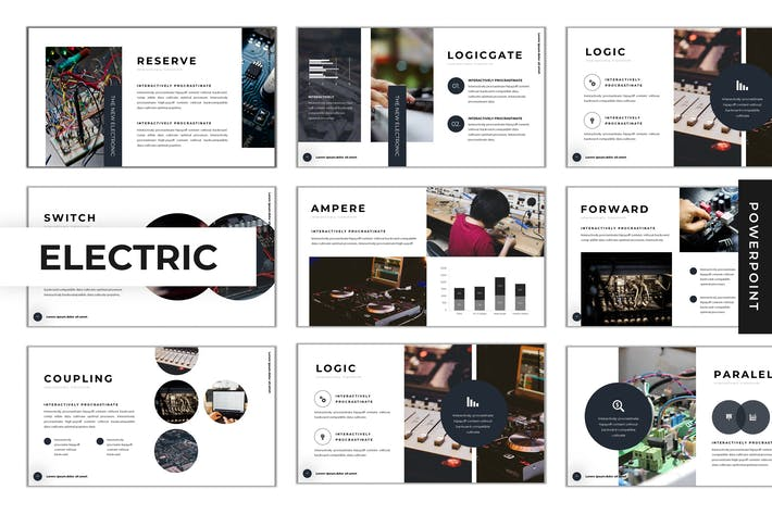 Thumbnail for The Electric - Powerpoint Template
