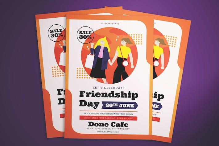 Thumbnail for Friendship Day Celebration Flyer