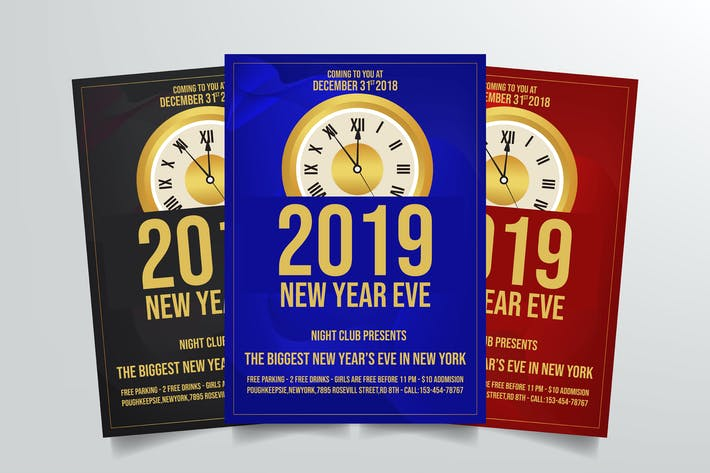Thumbnail for New Years Eve Flyer Template Vol. 1