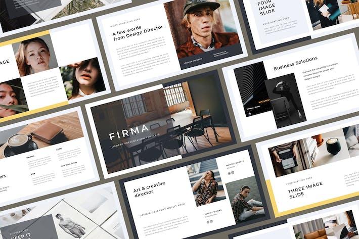 Thumbnail for Firma Google Slides Template