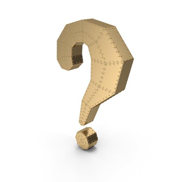 Fragezeichen Gold mit Nieten