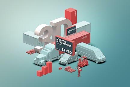 3D Scene Generator: Transport & Logistic
