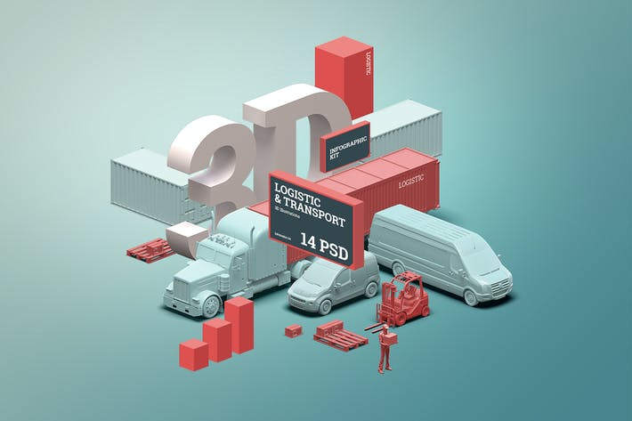 Thumbnail for 3D scene generator: Transport & Logistic