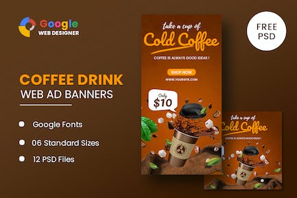 Coffee Google Adwords Banner Template