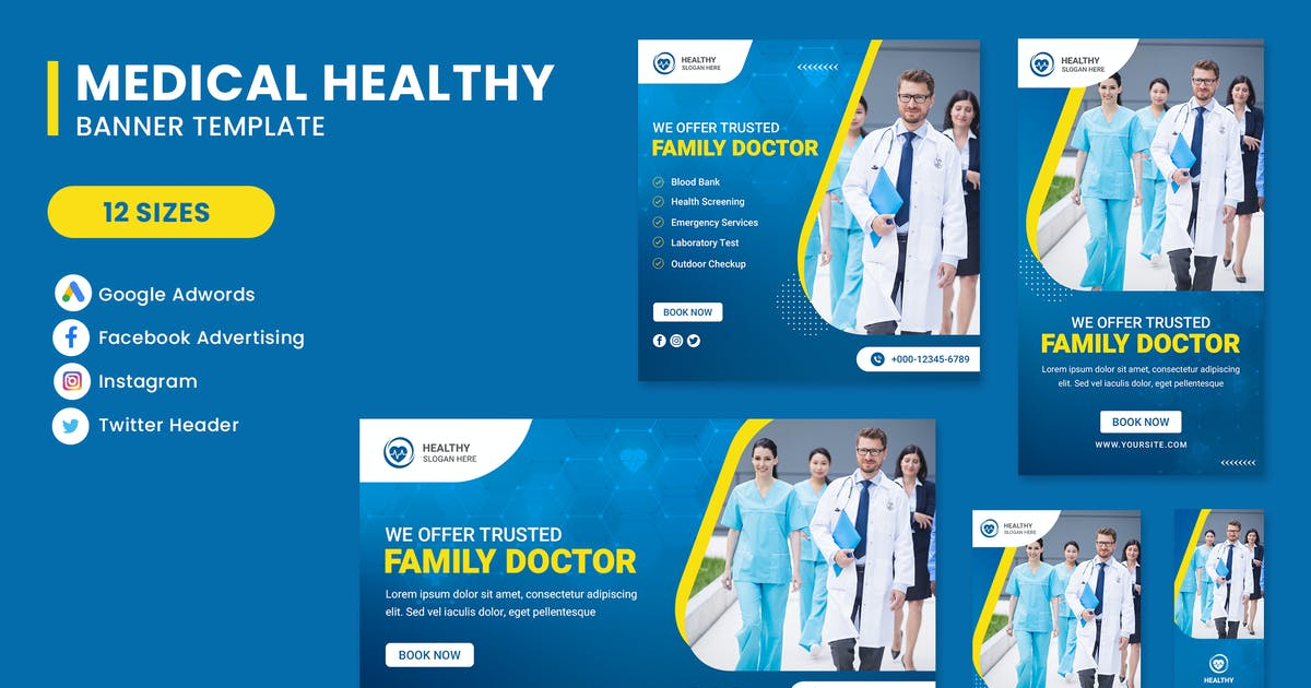 Download Family Doctor  Banner Set Template by nanoagency