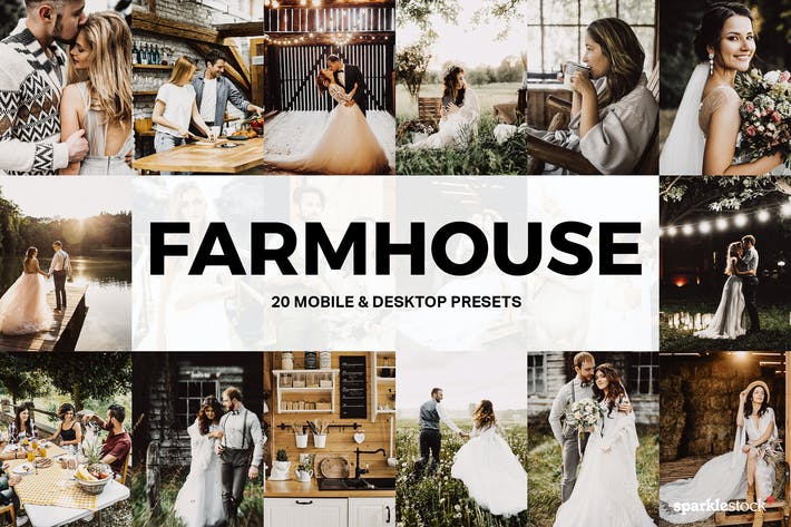 Thumbnail for 20 Farmhouse Lightroom Presets and LUTs
