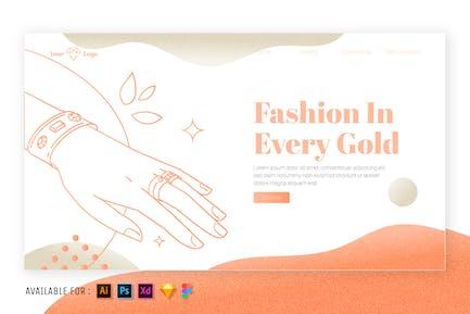Ring and Bracelet - Web Outline Illustration