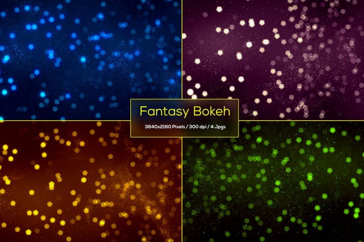 Thumbnail for Fantasy Bokeh Particles Backgrounds