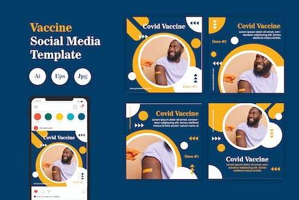 Vaccine Social Media Template Vol. 03