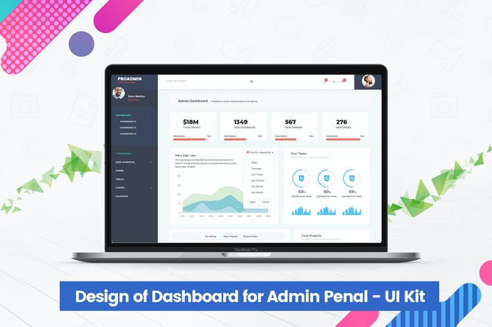 Thumbnail for Design of Dashboard for Admin Penal - UI Kit