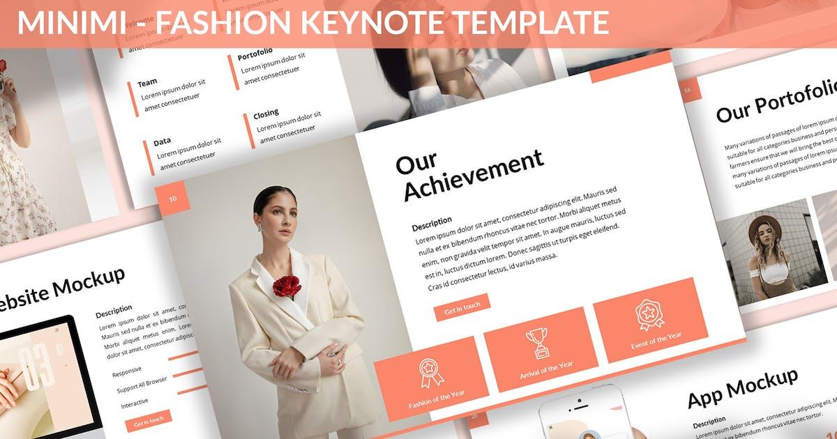 Download Minimi - Fashion Keynote Template by SlideFactory