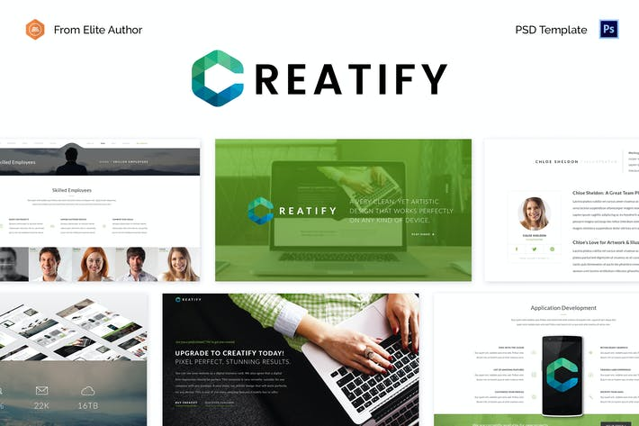 Thumbnail for Creatify - Multipurpose Business PSD Template