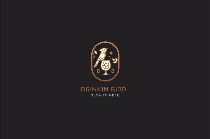 Thumbnail for Drinking Bird Brewery logo Template