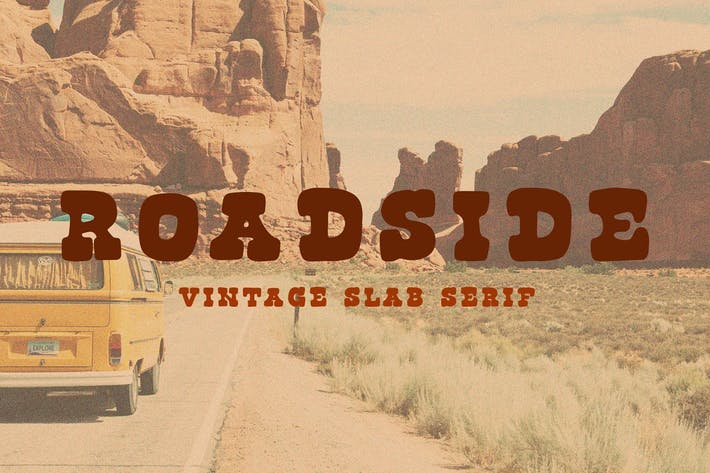 Thumbnail for Roadside Vintage Slab Serif