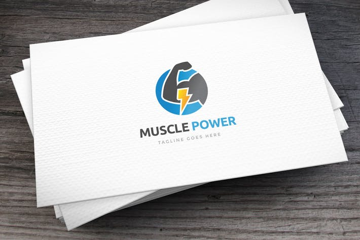 Thumbnail for Muscle Power Logo Template