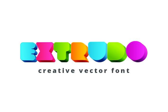 Cover Image For Extrudo Font