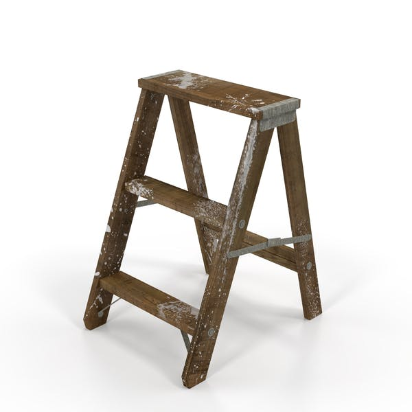 Thumbnail for Old Wooden Step Ladder