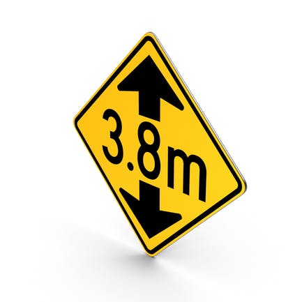 Metric Low Clearance Road Sign