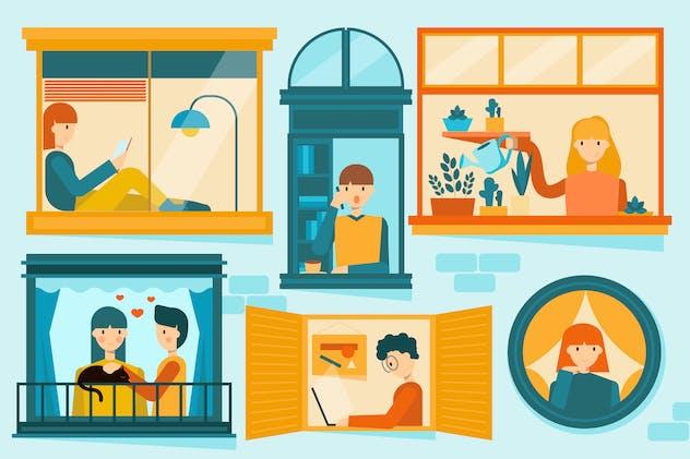 Home Activities Illustration