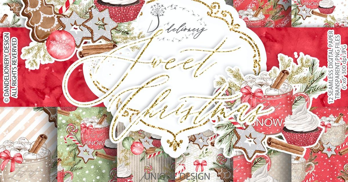Download Sweet Christmas digital paper pack by designloverstudio