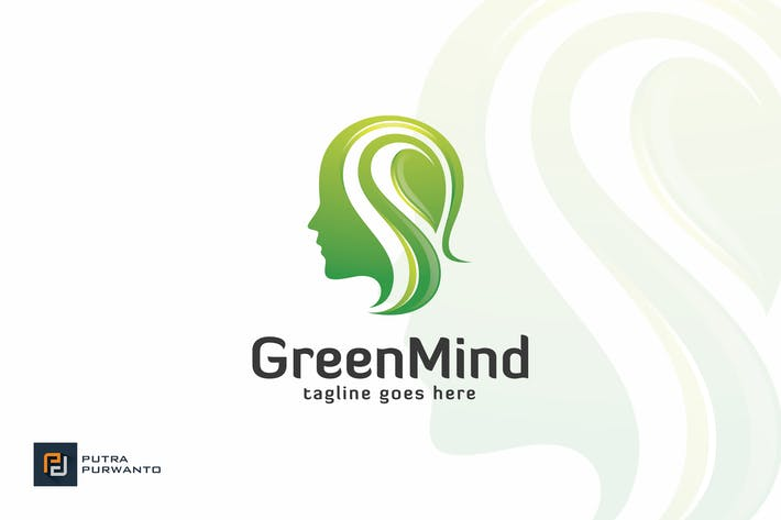 Cover Image For Green Mind - Logo Template