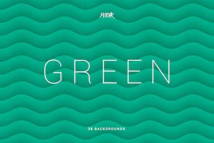 Grün   Weiche Abstrakte wellige Hintergründe