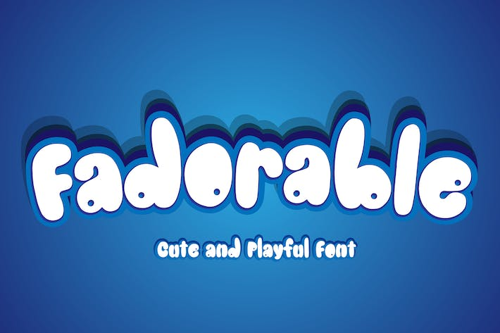 Thumbnail for Fadorable - Cute And Playful Font