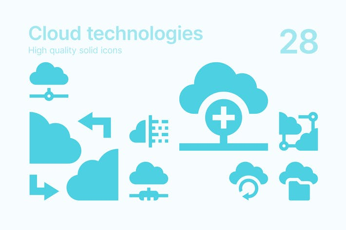 Thumbnail for Icons für Cloud-Technologien