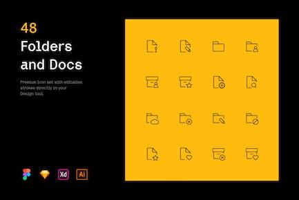 Folders and Docs - Iconuioo