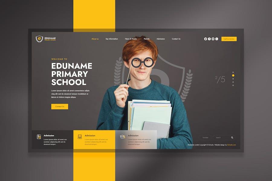 Éducation - En-tête du site Web