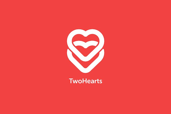 Thumbnail for Two Hearts Logo Template