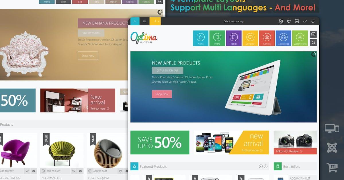 Optima - Responsive Multi Store Joomla 3 Template by VinaWebSolutions