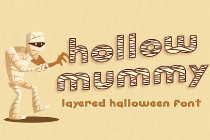 Hollow Mummy - Halloween Font
