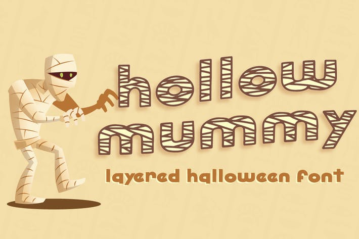 Thumbnail for Hollow Mummy - Halloween Font
