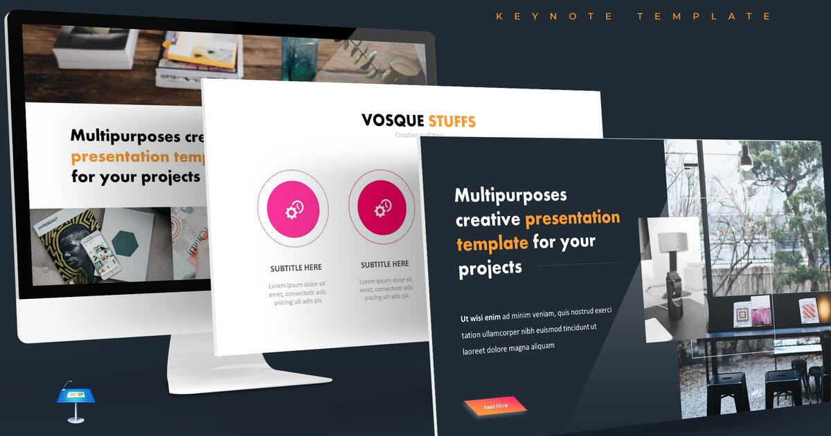 Download Vosque - Keynote Template by aqrstudio