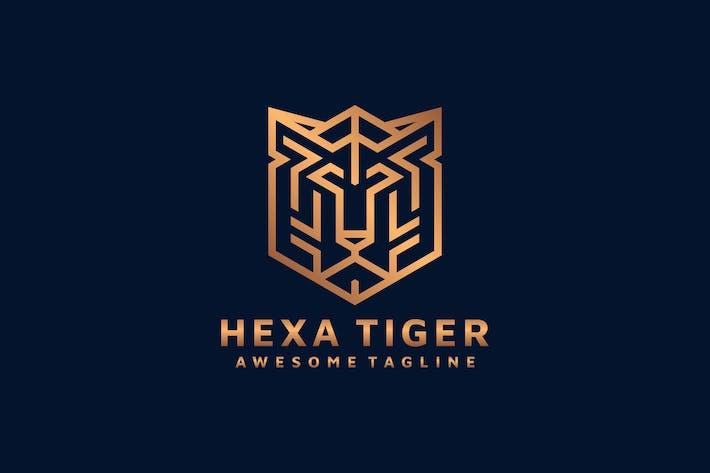 Thumbnail for HEXAGON TIGER LOGO TEMPLATE