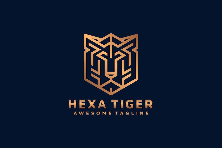 HEXAGON TIGER LOGO TEMPLATE