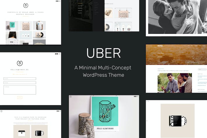Thumbnail for UBER - Minimal Multi-Concept WordPress Theme