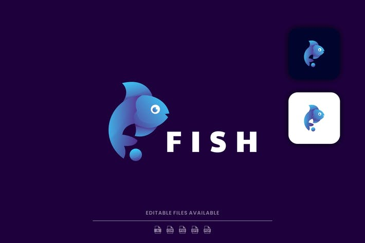 Logo Gradient poisson