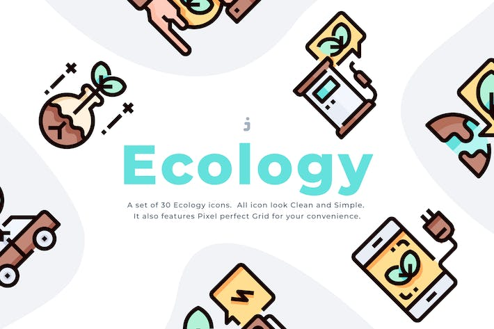 Thumbnail for 30 Ecology icon set