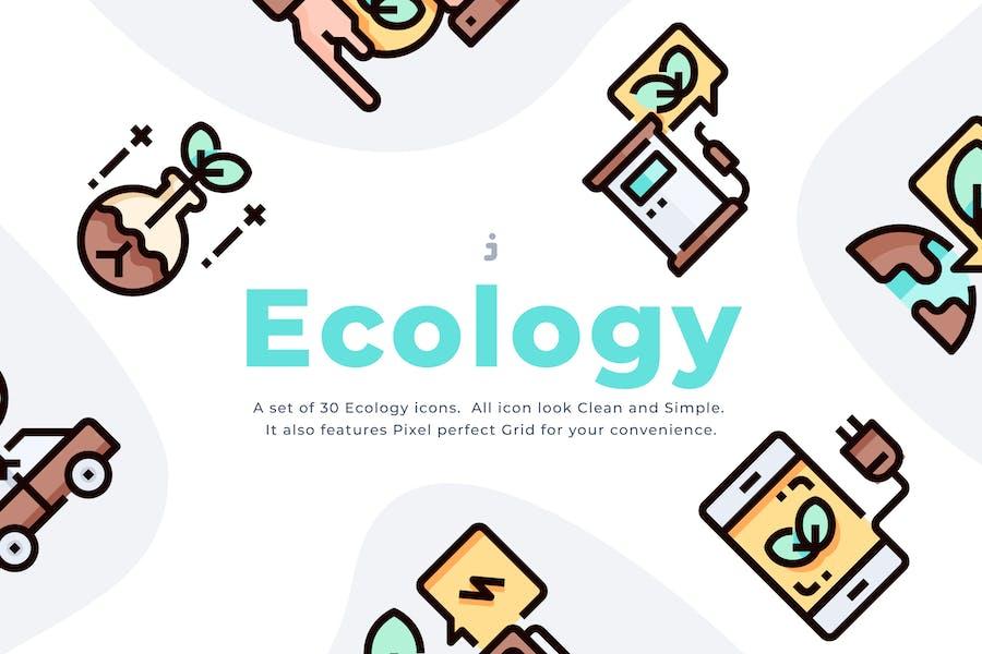 30 Ecology icon set
