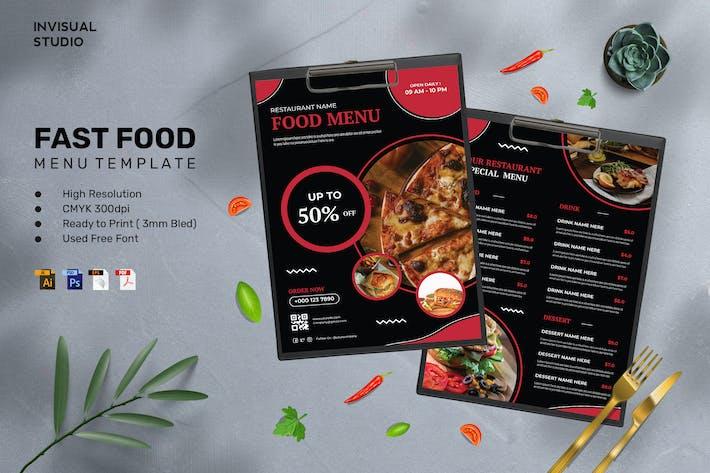 Fast Food - Food Menu