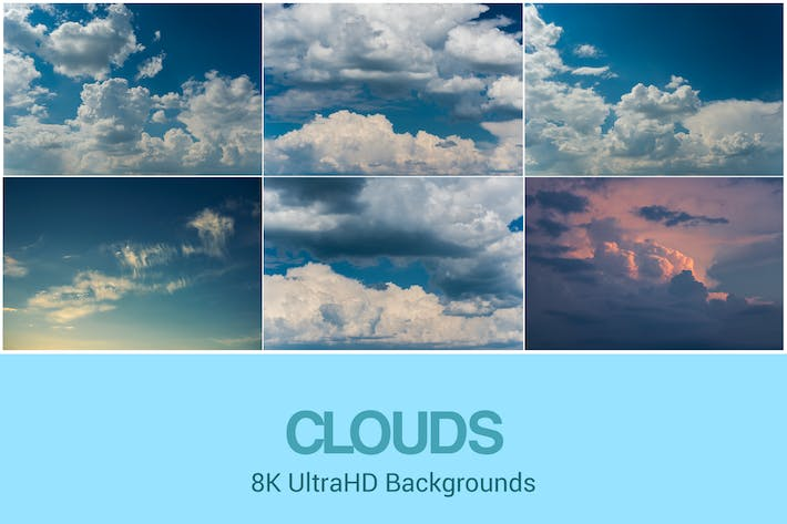 Thumbnail for 8K UltraHD Clouds Backgrounds Set