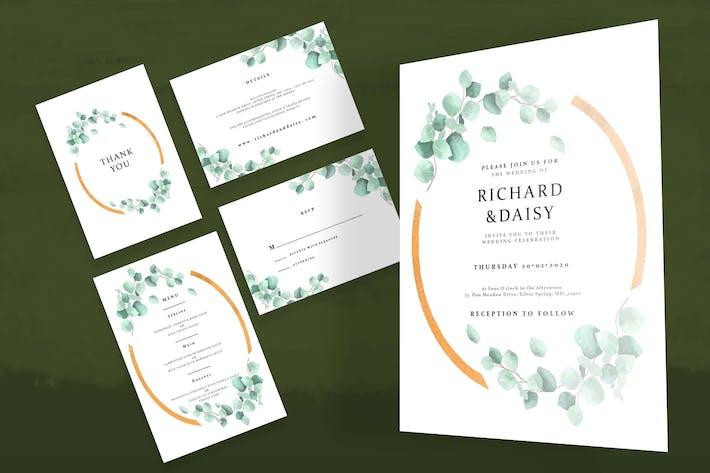 Thumbnail for Botanical Watercolor Wedding Invitation Set