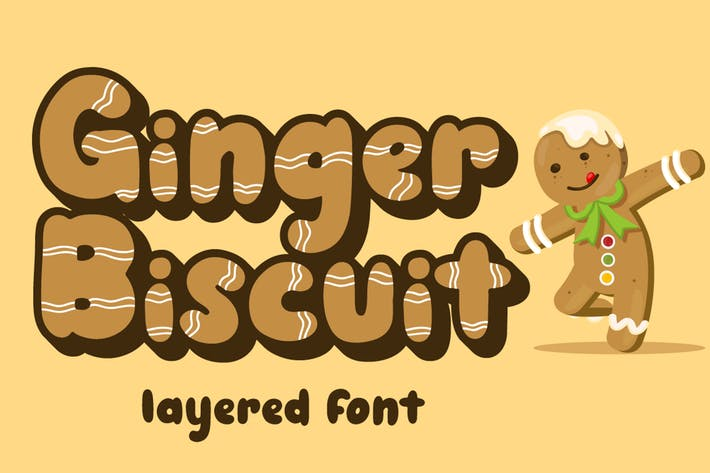 Thumbnail for Ginger Biscuit - Christmas Font
