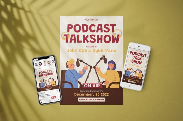 Podcast Talkshow - Flyer Media Kit - product preview 0