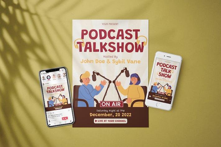 Thumbnail for Podcast Talkshow - Flyer Media Kit